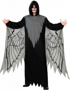 Gefallener Engel Herren-Kostüm schwarz-grau