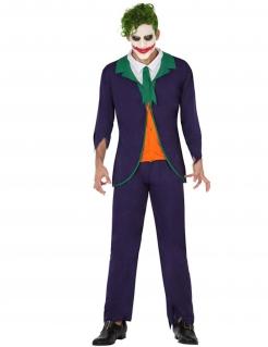 Verrückter Psychoclown Herren-Kostüm bunt