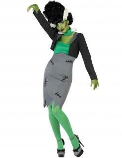 Monster-Kostüm für Damen grau-grün-weiss