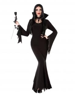 Verführerisches Vampir-Damenkostüm schwarz
