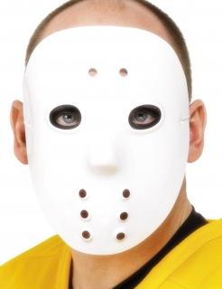 Serienkiller Hockeymaske für Erwachsene weiss