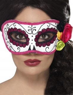 Wunderschöne Calavera-Augenmaske für Damen bunt