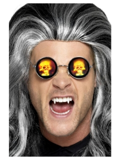 Holographische Brille für Erwachsene silber-rot-weiss