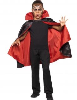 Wendbarer Vampirumhang für Kinder schwarz-rot
