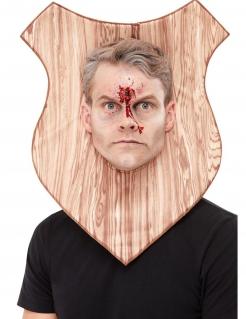 Jagdtrophäen-Maske für Erwachsene braun
