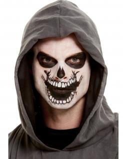 Skelett-Schminkset für Erwachsene schwarz-weiss