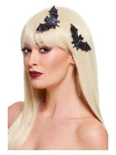 Fledermaus-Haarspangen 2 Stück schwarz