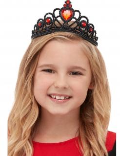Hexen-Krone Mittelalter für Mädchen schwarz-rot