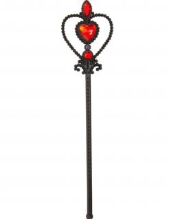 Gotischer Zauberstab für Mädchen schwarz-rot