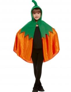 Kürbis-Umhang für Kinder grün-orange