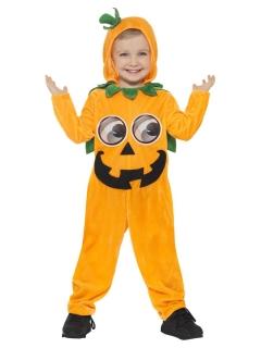 Fröhliches Kürbis-Kinderkostüm Happy Halloween orange-schwarz-grün