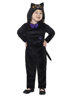 Süßer Katzen-Overall für Kinder schwarz