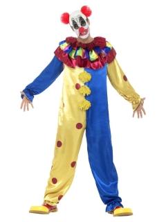 Killerclown Halloween-Kostüm für Herren bunt