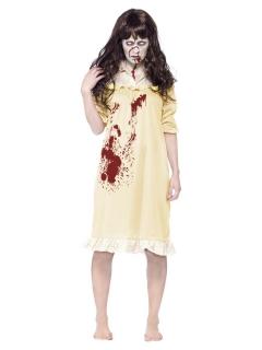 Zombie-Kostüm Nachthemd für Damen gelb-rot