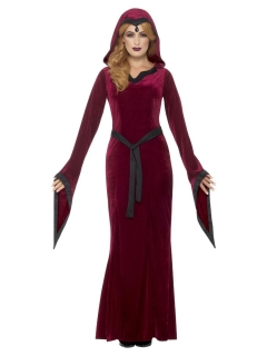 Vampir-Priesterin Halloween-Kostüm für Damen rot-schwarz