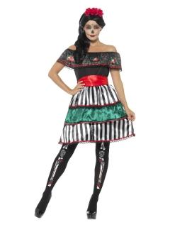 Dia de los Muertos Kostüm für Damen bunt