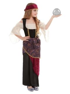 Wahrsagerin-Kostüm für Mädchen bunt