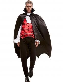 Vampir-Lord Kostüm für Herren schwarz-weiss-rot