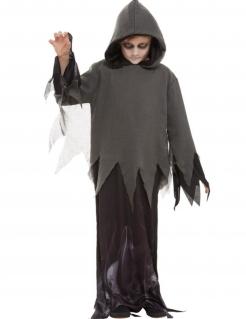 Spukendes Phantom Kinder-Kostüm grau-dunkelgrau