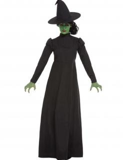 Klassisches Hexen-Kostüm für Damen schwarz