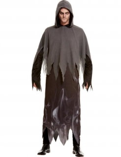 Horror-Phantom Herren-Kostüm grau-schwarz