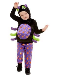 Süße Spinne Kinder-Kostüm für Halloween bunt