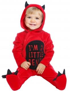 Kleiner süßer Teufel Kinder-Kostüm rot-schwarz