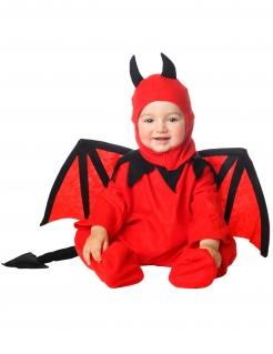 Teufel Baby-Kostüm für Halloween rot-schwarz