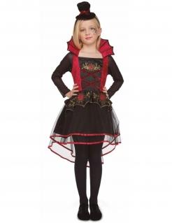 Vampirella-Mädchenkostüm Halloween-Kostüm schwarz-rot