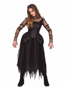 Dunkle Prinzessin Halloween-Kostüm schwarz