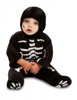 Süßes Skelett-Kostüm für Babys schwarz-weiss