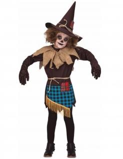 Horror-Vogelscheuche Kinder-Kostüm für Halloween bunt