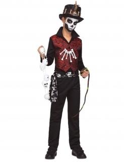 Voodoo-Kostüm für Jungen Halloween-Kostüm rot-schwarz