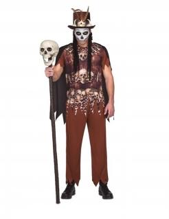 Voodoo-Kannibale Herren-Kostüm für Halloween beige-braun