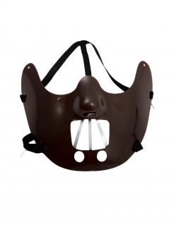 Berühmte Kannibalen-Halbmaske für Erwachsene braun