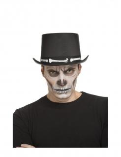 Knochen-Zylinder für Erwachsene schwarz-weiss 59 cm