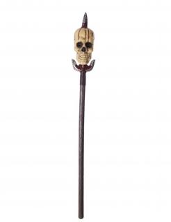 Totenkopf-Speer blutige Spielzeug-Waffe braun