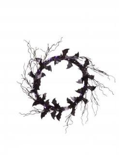Fledermaus-Kranz Halloween-Dekoration schwarz-lila 51x51x3 cm
