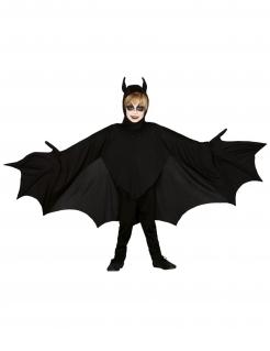 Fledermaus-Verkleidung für Kinder schwarz