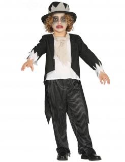 Zombie Bräutigam-Kostüm für Jungen schwarz-weiss