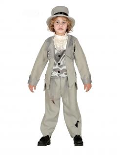 Geisterhafte Bräutigam Kinder-Kostüm für Jungen grau-schwarz-weiss