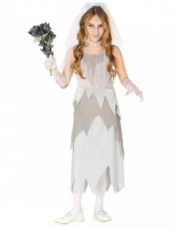 Geisterbraut Mädchen-Kostüm grau-weiss