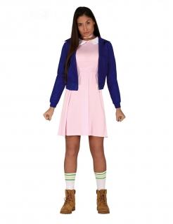 Telepathisches Mädchen Kostüm für Damen TV-Kostüm rosa-blau
