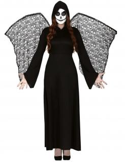 Todesengel-Kostüm für Damen schwarz