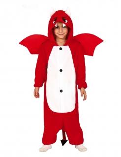 Süßer kleiner Teufel Kinder-Kostüm für Halloween rot-weiss-schwarz