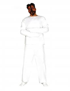 Psychatrie-Insasse Herrenkostüm für Halloween weiss-schwarz