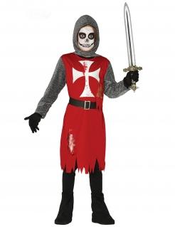 Blutiges Zombieritter-Kostüm für Kinder bunt