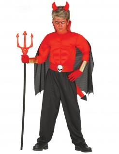 Muskulöses Teufel-Kostüm für Kinder bunt