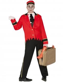 Zombie-Concierge Herrenkostüm schwarz-rot-weiss