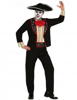 Mariachi-Kostüm für Herren Tag der Toten bunt